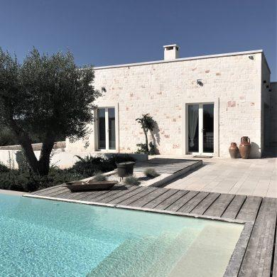 Trullo Piccolo - stone villa view from pool